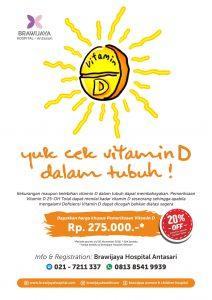 Promo Pemeriksaan Vitamin D RS Brawijaya Antasari