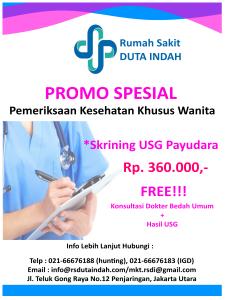 Promo Skrining USG Payudara RS Duta Indah