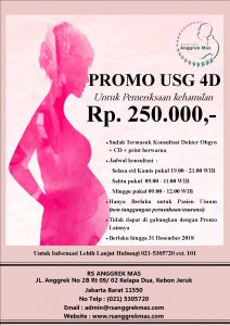 Promo USG 4D RSIA Anggrek Mas