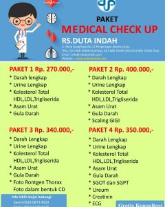 Paket Medical Check Up RS Duta Indah
