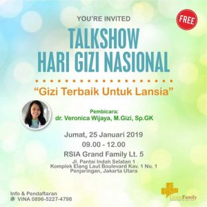 Talkshow Hari Gizi Nasional RSIA Grand Family
