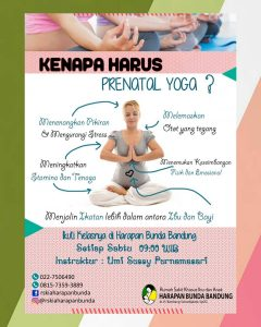 Prenatal Yoga RSKIA Harapan Bunda Bandung