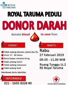 Donor Darah RS Royal Taruma
