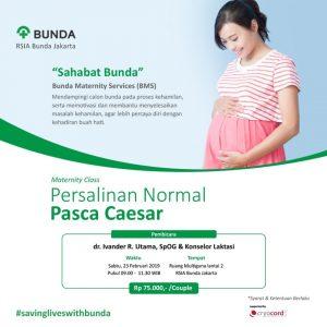 "Maternity Class ""Persalinan Normal Pasca Caesar"""