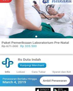 Promo Pemeriksaan Laboratorium Pre-Natal RS Duta Indah