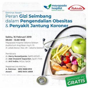 """Seminar """"Peran Gizi Seimbang dalam Pengendalian Obesitas & Penyakit Jantung Koroner"""""""