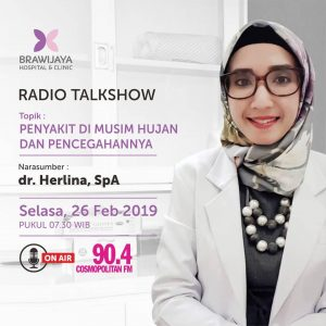 "Radio Talkshow ""Penyakit Di Musim Hujan & Pencegahannya"""