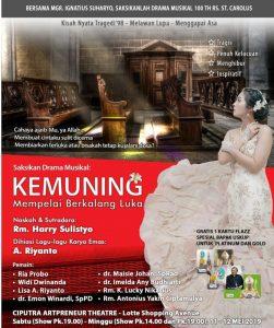 """Drama Musikal 100th RS St. Carolus: """"KEMUNING, Mempelai Berkalang Luka"""""""