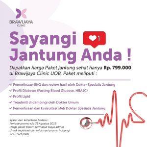Paket Promo Pemeriksaan Jantung Brawijaya Clinic UOB