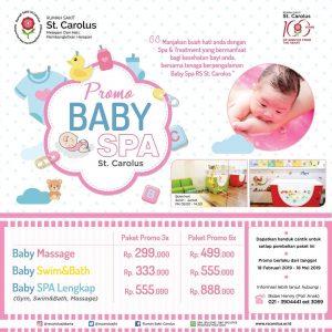 Promo Baby Spa RS St. Carolus Jakarta