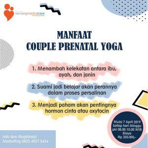 Kelas Couple Prenatal Yoga