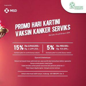 Promo Hari Kartini Vaksin Kanker Serviks
