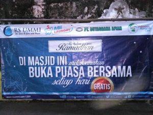 Buka bersama Di Masjid Sekitar Bogor Diberikan Oleh RS UMMI