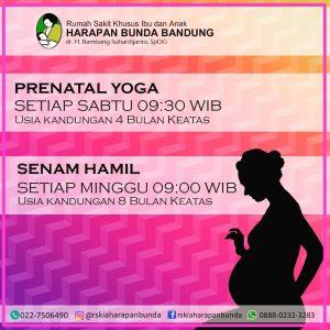 Jadwal Prenatal Yoga & Senam Hamil RSKIA Harapan Bunda Bandung