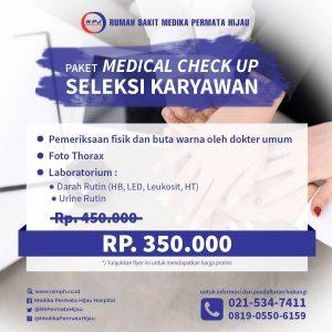 Paket Medical Check Up Seleksi Karyawan