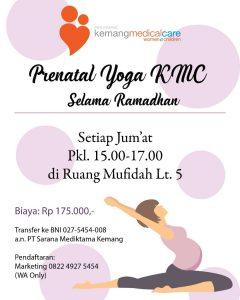 Jadwal Prenatal Yoga KMC Ramadhan