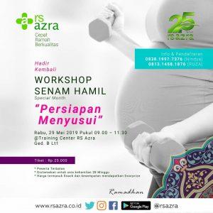 """Workshop Senam Hamil """"Persiapan Menyusui"""""""