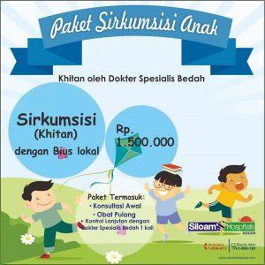 Paket Sirkumsisi (Khitan) Anak RS Siloam Bogor