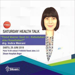 """Health Talk """"Trend Veener saat ini: Kebutuhan atau Kesehatan?"""""""