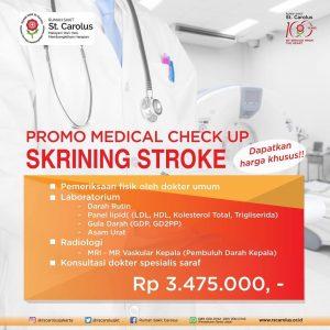 Promo Medical Check Up Skrining Stroke RS St. Carolus.