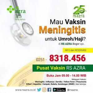 Vaksin Meningitis Untuk Umroh/Haji RS AZRA