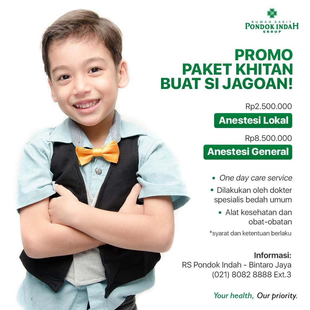 Promo Paket Khitan RS Pondok Indah – Bintaro Jaya