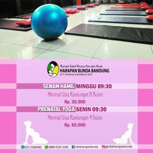 Jadwal Senam Hamil & Prenatal Yoga RSKIA Harapan Bunda
