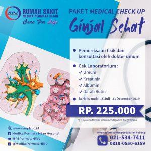 Paket Medical Check Up Ginjal Sehat
