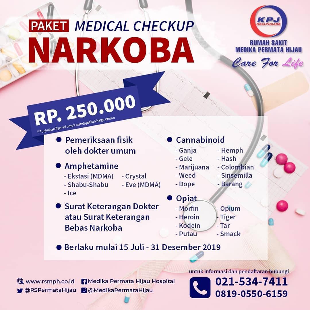 Promo Medical Check Up Narkoba