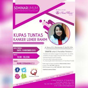 """Seminar Umum """"Kupas Tuntas Kanker Leher Rahim"""""""