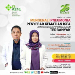 Seminar Awam Mengenali Pneumonia Penyebab Kematian ISPA (Infeksi Saluran Pernafasan Akut) Terbanyak
