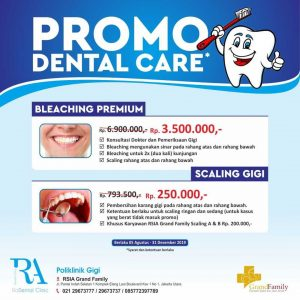 Promo Dental Care RSIA Grand Family