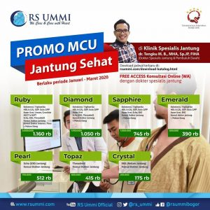 Promo MCU Jantung Sehat RS Ummi