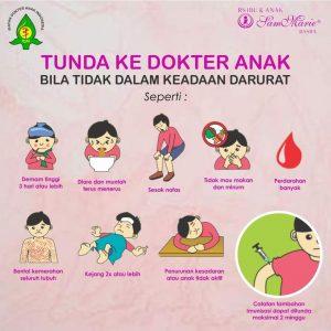 Tunda ke dokter anak dalam upaya pencegahan covid19