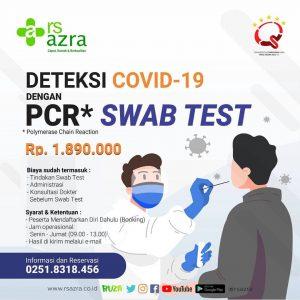Deteksi Covid-19 dengan PCR SWAB TEST RS Azra
