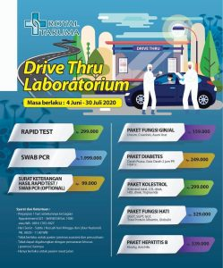 Drive Thru Laboratorium RS Royal Taruma
