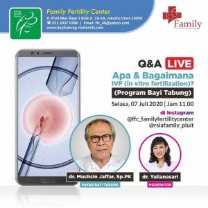 "Q&A LIVE ""Apa itu IVF (Program Bayi Tabung)? """