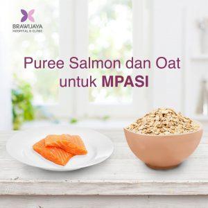 Puree Salmon & Oat Untuk MPASI