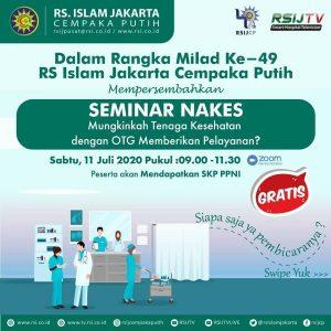 """Seminar Nakes Online GRATIS """"Mungkinkah Tenaga Kesehatan dengan OTG Memberikan Pelayanan"""""""