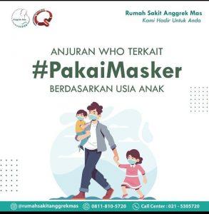 Anjuran WHO Terkait Pakai Masker Berdasarkan Usia Anak