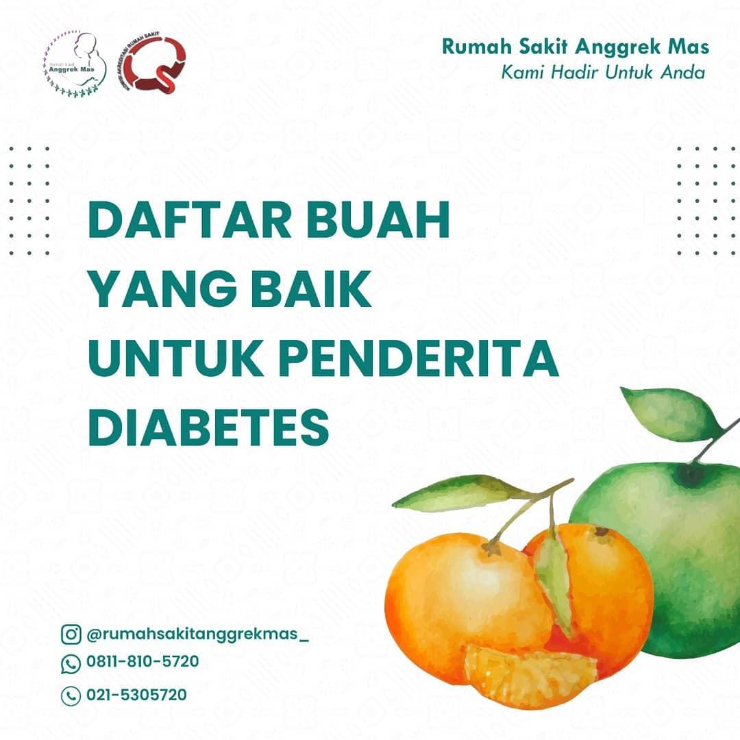 Daftar buah yang baik untuk penderita diabetes