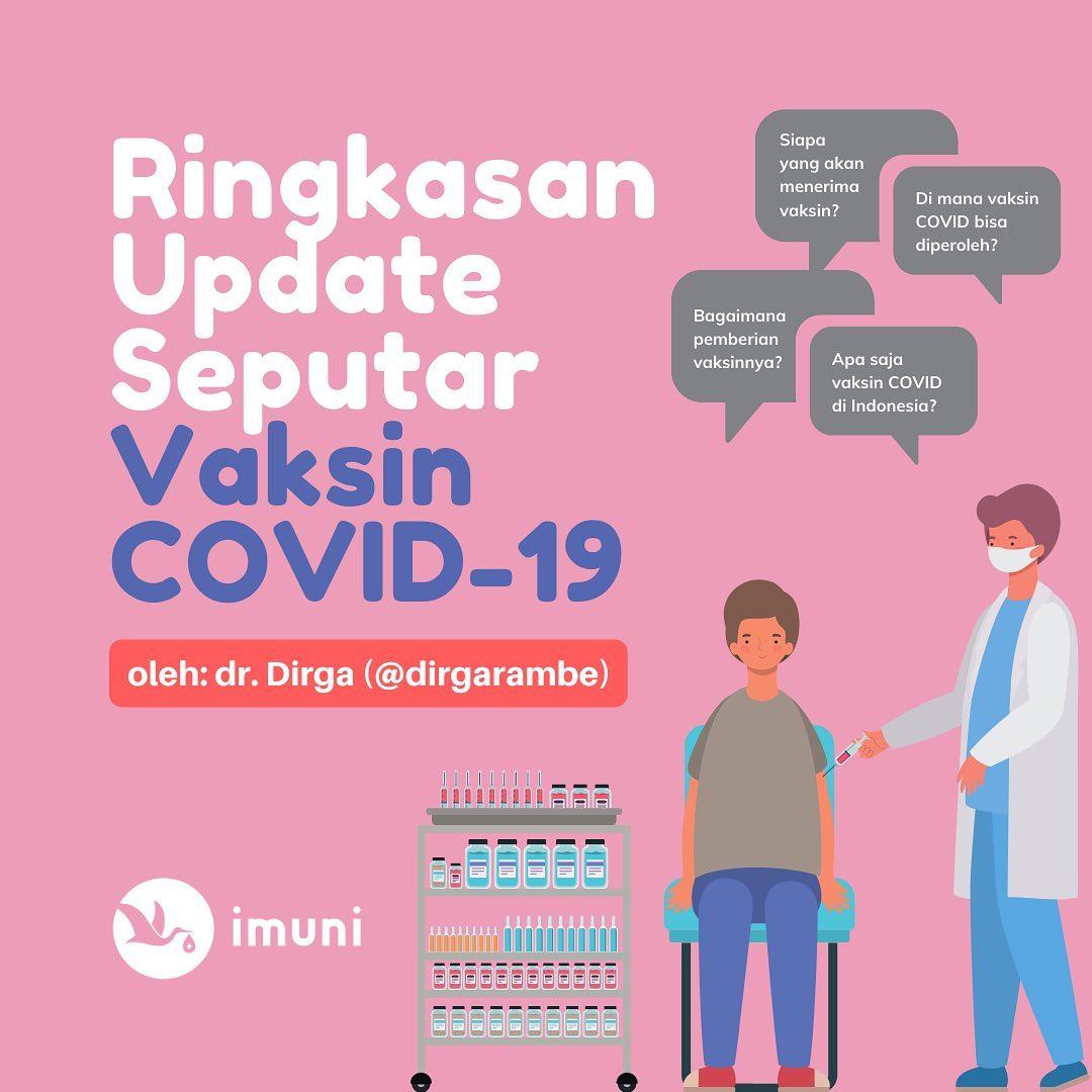 Ringkasan Update Terbaru Vaksin COVID-19! oleh dr. Dirga