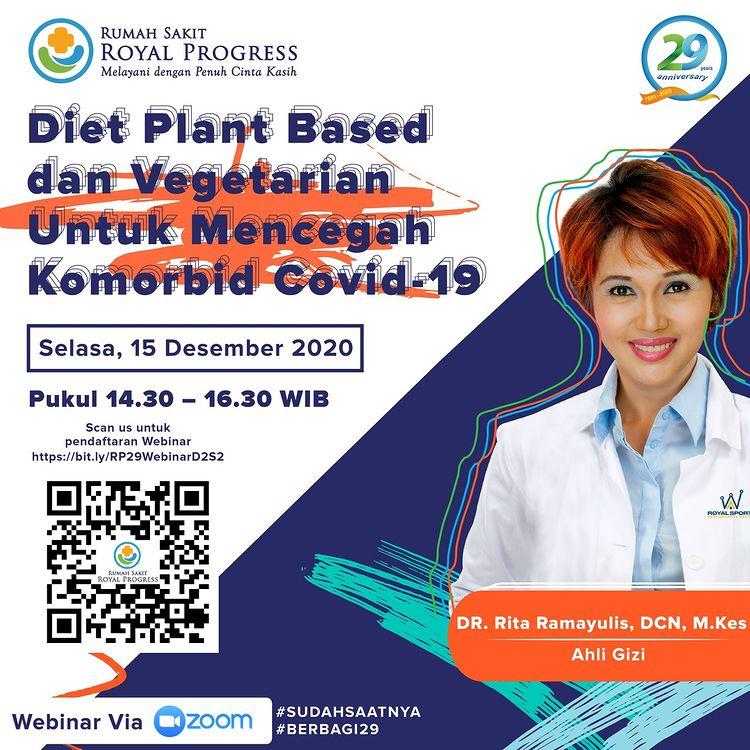 """Webinar """"Diet Plant Based dan Vegetarian untuk Mencegah Komorbid Covid-19"""""""