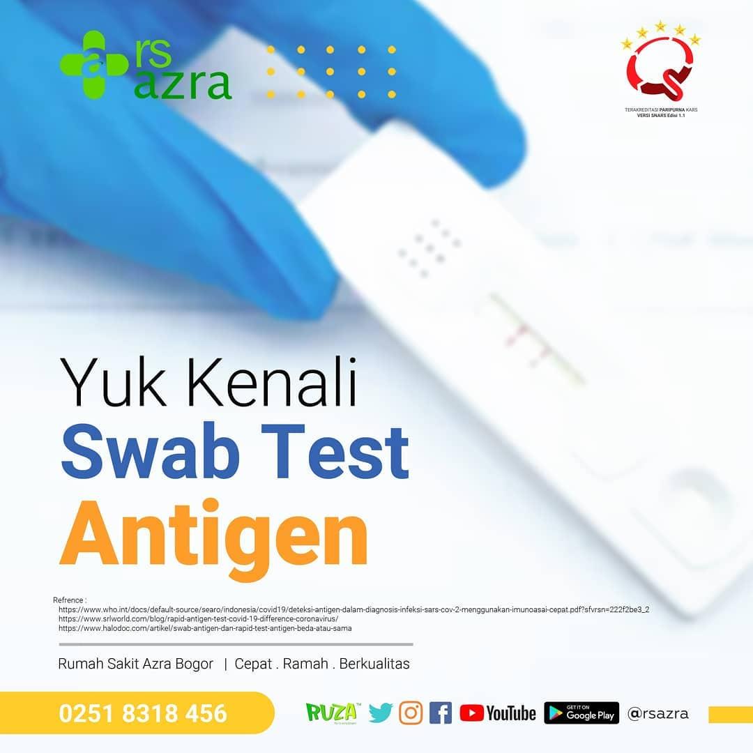 Yuk Kenali Swab Test Antigen