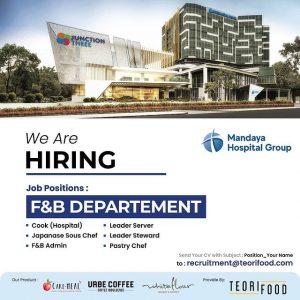 Job Vacancy at Mandaya Hospital Group