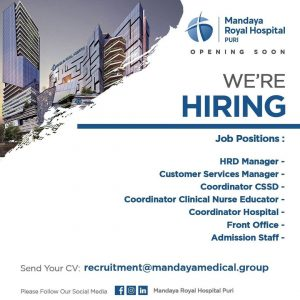 Job Vacancy at Mandaya Hospital Group