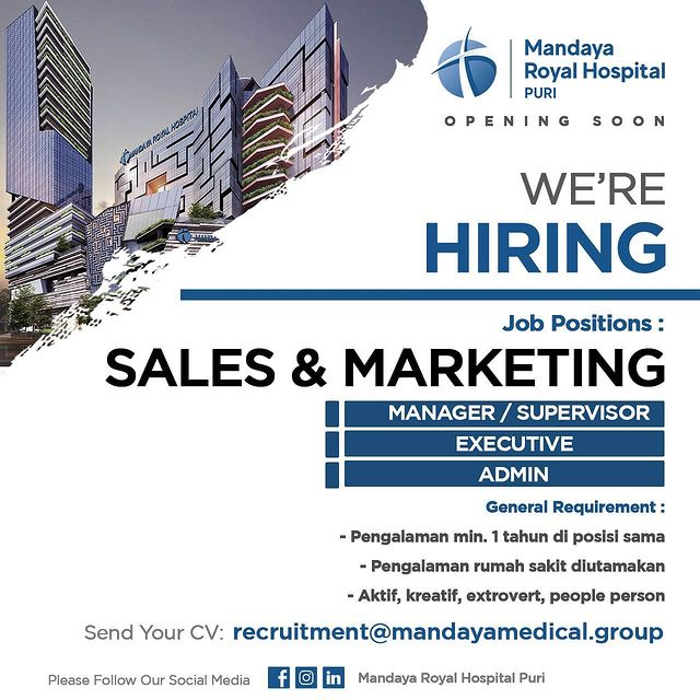 Lowongan Kerja Sales & Marketing