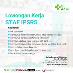 Lowongan Kerja – Staff IPSRS RS Azra
