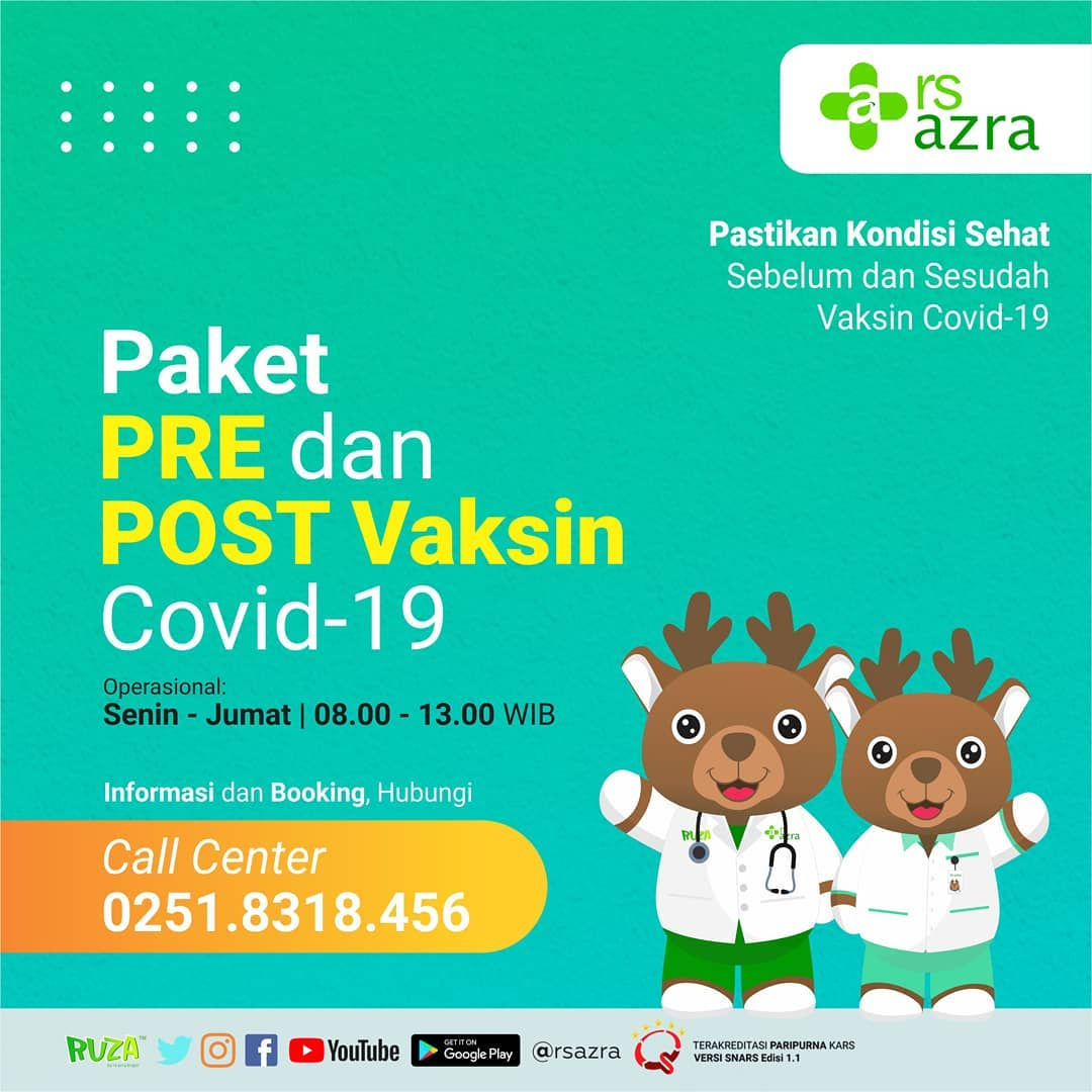 Paket Pre dan Post Vaksin Covid 19