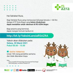 Vaksin Covid-19 Untuk Lansia di RS AZRA